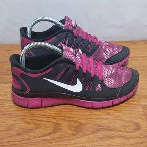 Nike Free 5.0 Floral Design Running Shoes